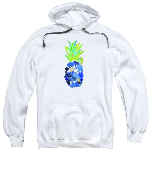 Tropical Cobalt Blue Pineapple Sweatshirt