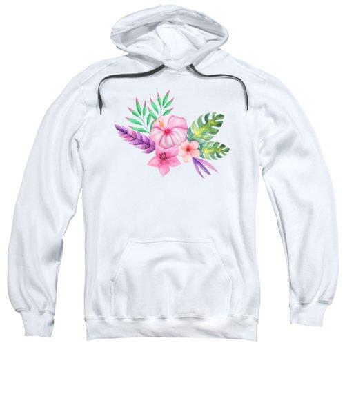 Tropical Watercolor Bouquet 1 Sweatshirt