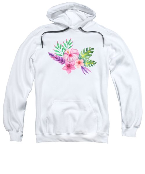 Tropical Watercolor Bouquet 1 Sweatshirt
