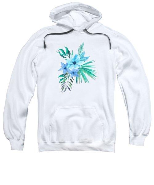 Tropical Watercolor Bouquet 10 Sweatshirt