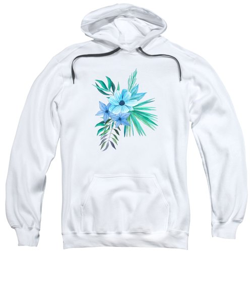 Tropical Watercolor Bouquet 10 Sweatshirt