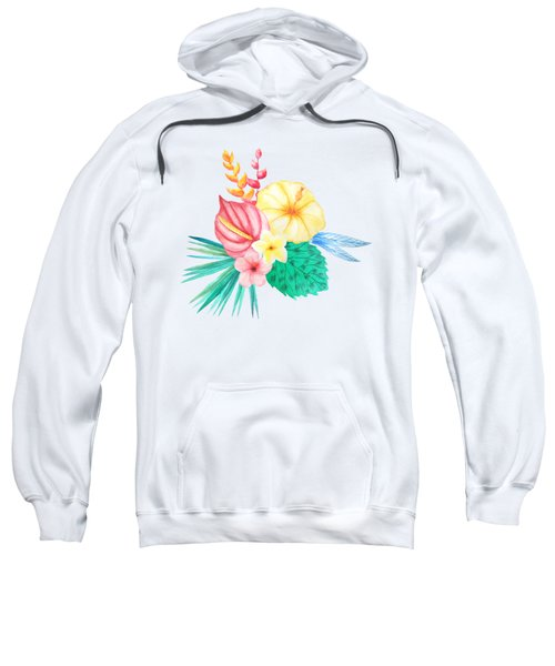 Tropical Watercolor Bouquet 2 Sweatshirt