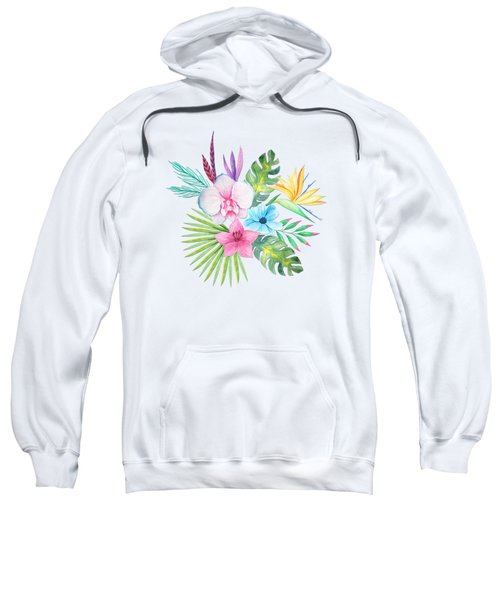 Tropical Watercolor Bouquet 3 Sweatshirt