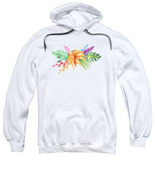 Tropical Watercolor Bouquet 4 Sweatshirt