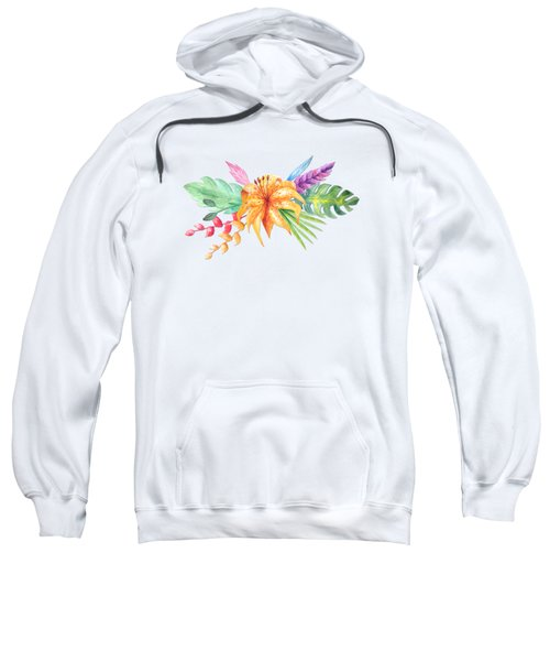 Tropical Watercolor Bouquet 4 Sweatshirt