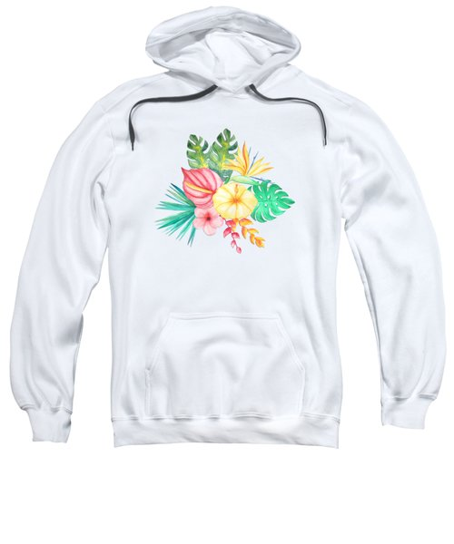 Tropical Watercolor Bouquet 6 Sweatshirt
