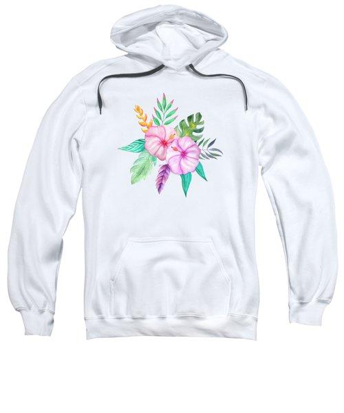 Tropical Watercolor Bouquet 78 Sweatshirt