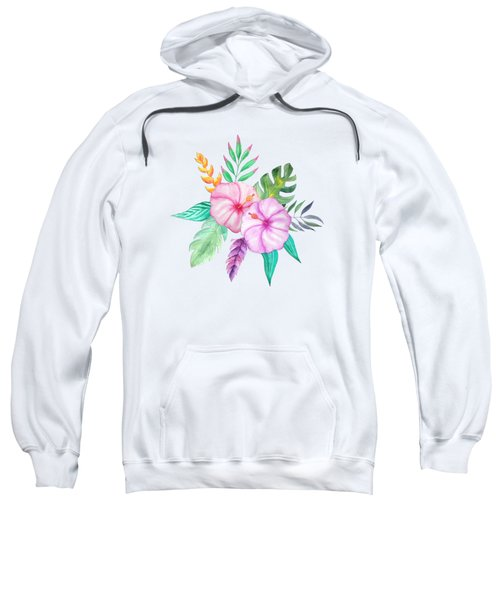 Tropical Watercolor Bouquet 78 Sweatshirt