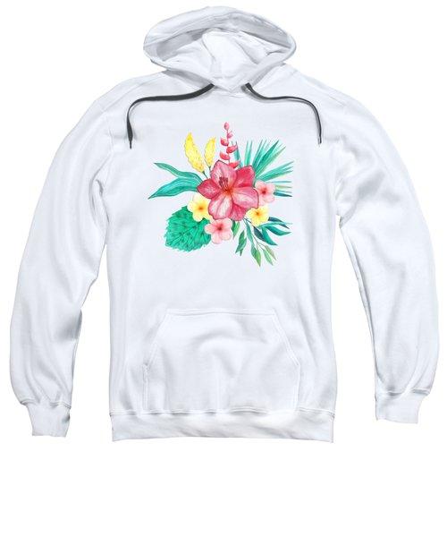 Tropical Watercolor Bouquet 9 Sweatshirt