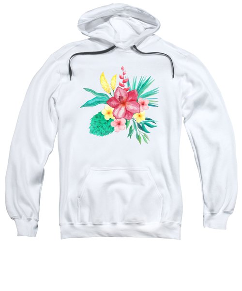 Tropical Watercolor Bouquet 9 Sweatshirt