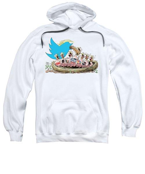 Trump Twitter And Tv News Sweatshirt