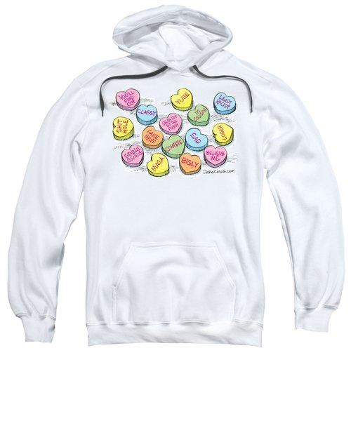 Trump Valentines Candy Uncensored Sweatshirt