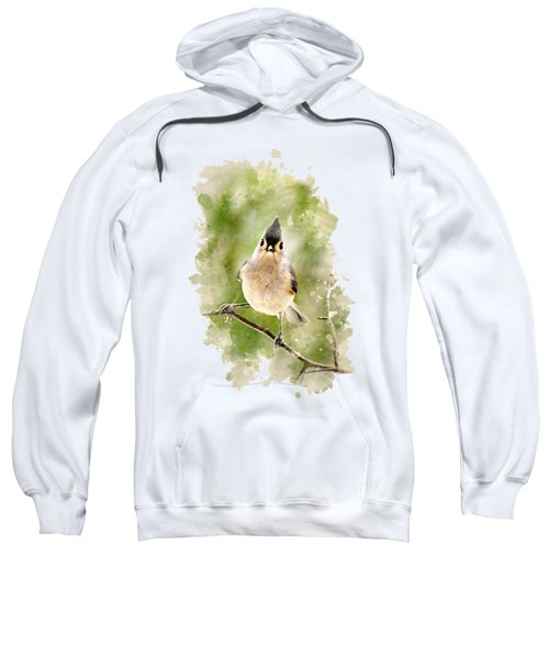 Tufted Titmouse - Watercolor Art Sweatshirt by Christina Rollo
