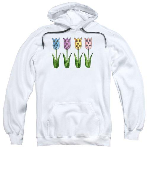 Tulip Row Sweatshirt by Shelley Wallace Ylst