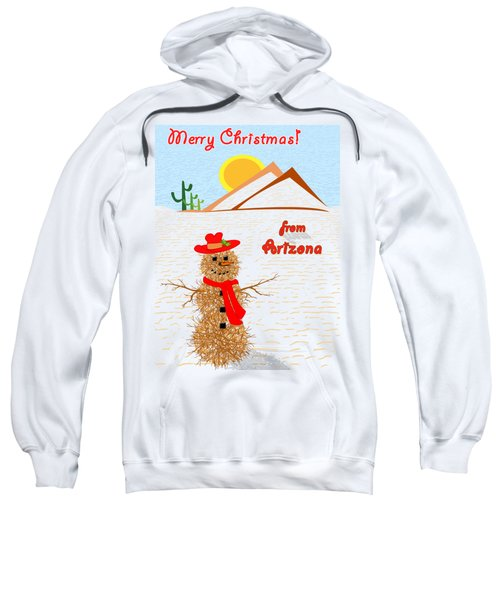 Arizona Tumbleweed Snowman Sweatshirt