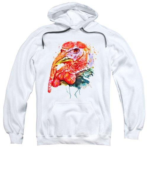 Turkey Head Sweatshirt by Marian Voicu