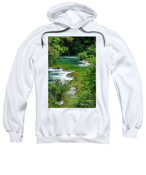 Turqouise Waterfalls Of Skradinski Buk At Krka National Park In Croatia Sweatshirt