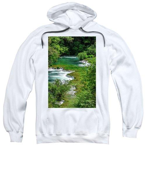 Turqouise Waterfalls Of Skradinski Buk At Krka National Park In Croatia Sweatshirt
