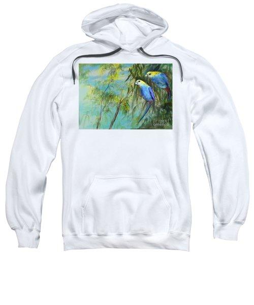 Two Pale-faced Rosellas Sweatshirt