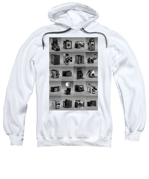 Twenty Old Cameras - Black And White Sweatshirt