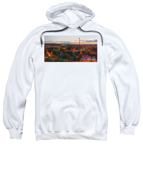 Twilight Panorama Of Downtown Santa Fe From Cross Of The Martyrs - New Mexico  Sweatshirt