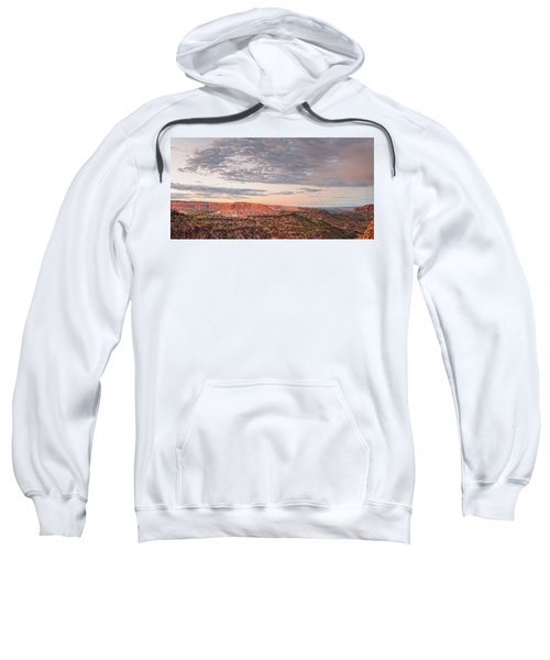 Twilight Panorama Over Kwage Mesa From White Rock Over Sweatshirt