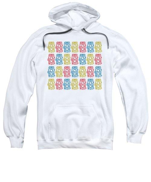 Twin Lens Camera Pattern Sweatshirt