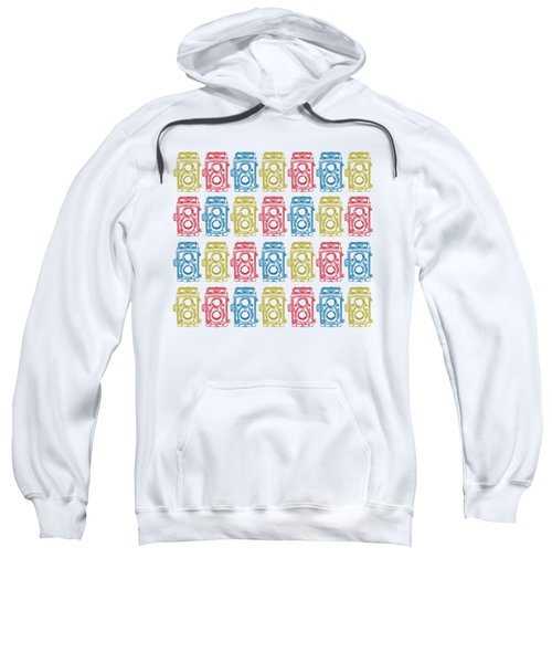 Twin Lens Camera Pattern Sweatshirt