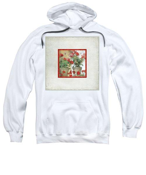 Two Geranium Pots Sweatshirt
