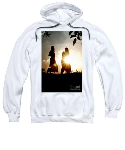 Two Girls And Sunburst Sweatshirt