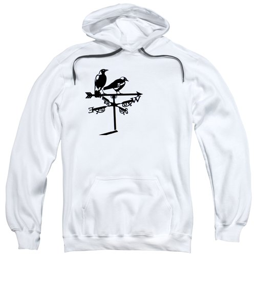 Two Magpies Sweatshirt by India Rattray