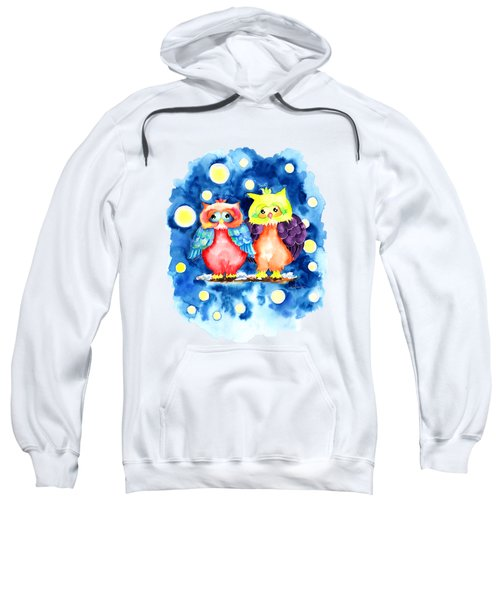 Two Owls And A Starry Night Sweatshirt