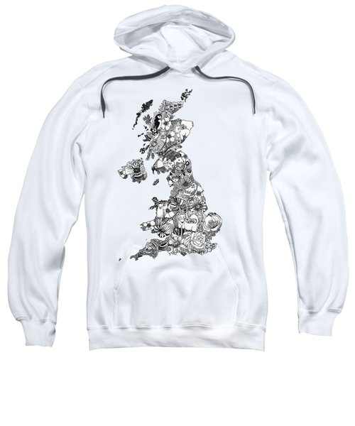 Uk Map Sweatshirt by Hannah Edge