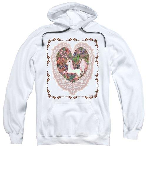 Unicorn In A Pink Heart Sweatshirt