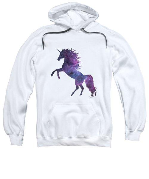Unicorn In Space-transparent Background Sweatshirt