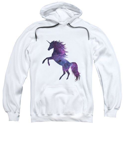 Unicorn In Space-transparent Background Sweatshirt