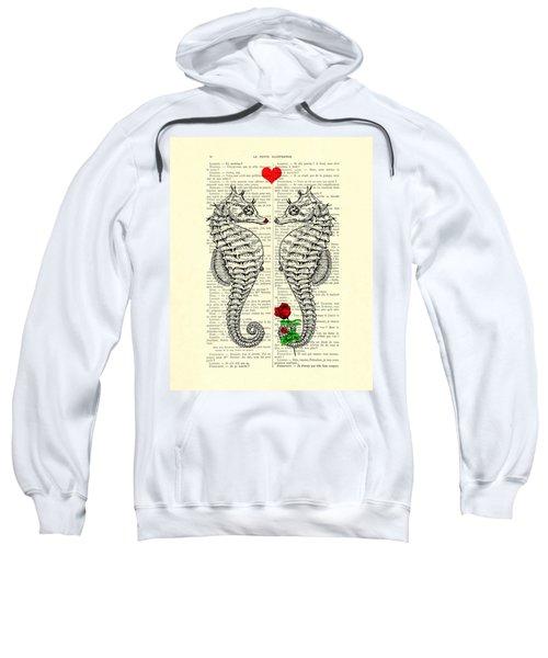 Unique Valentines Day Gift Ideas, Seahorses Sweatshirt
