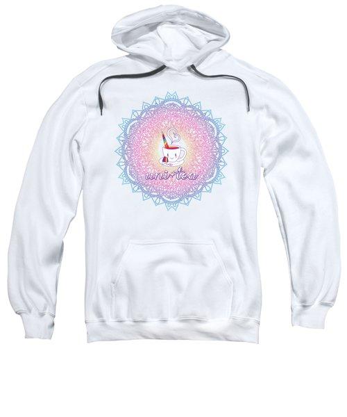 Unitea Rainbow Unity Unicorn Tea Cup Mandala Sweatshirt