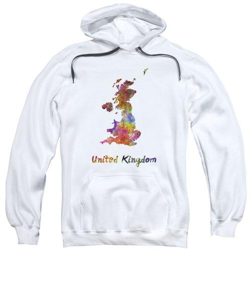 United Kingdom In Watercolor Sweatshirt