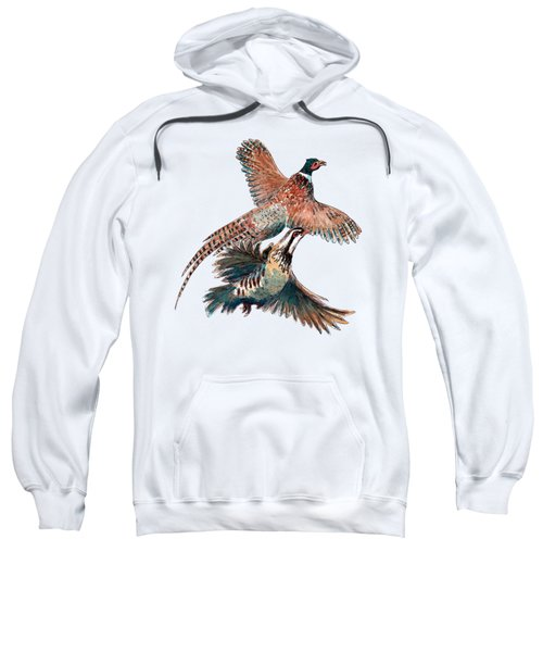 Up And Away Partridge And Pheasant Sweatshirt by Richard Skilton