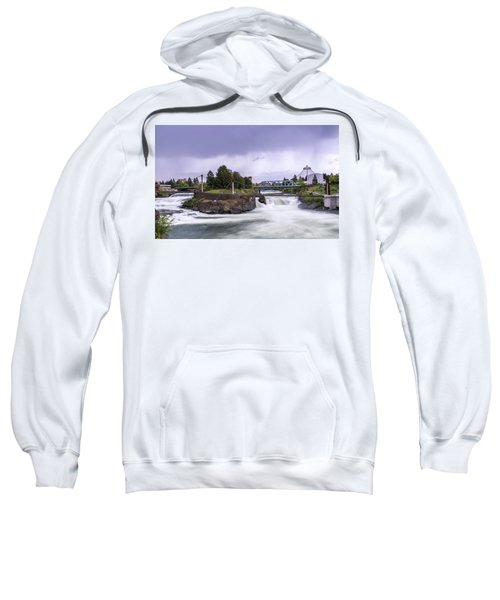 Upper Spokane Falls On A Rainy Day Sweatshirt
