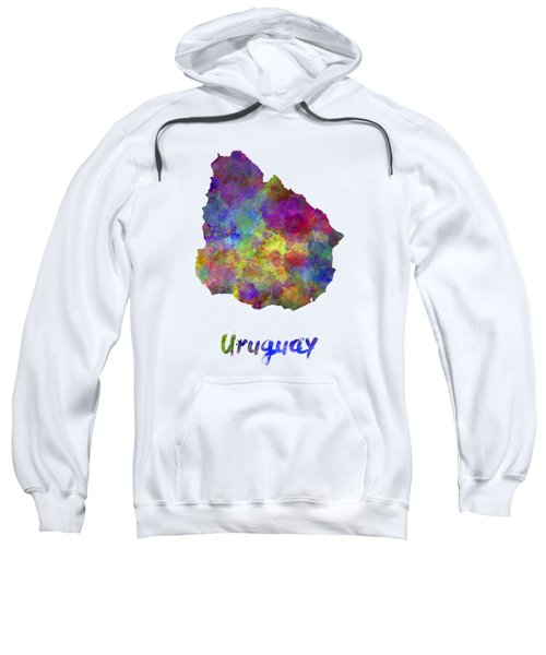 Uruguay In Watercolor Sweatshirt
