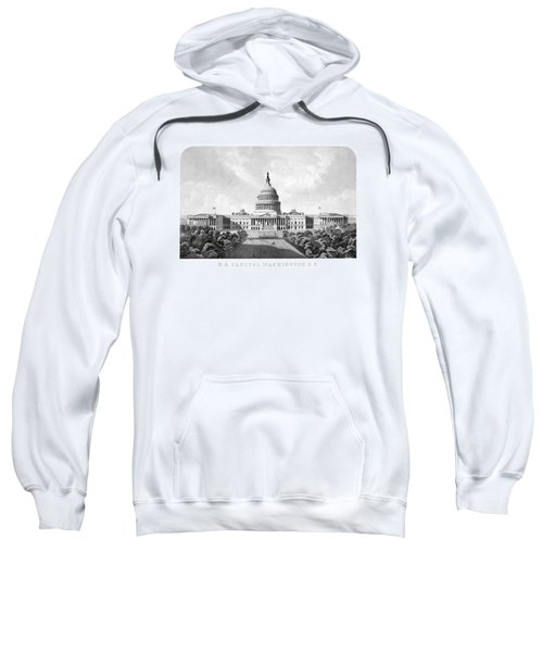 Us Capitol Building - Washington Dc Sweatshirt by War Is Hell Store