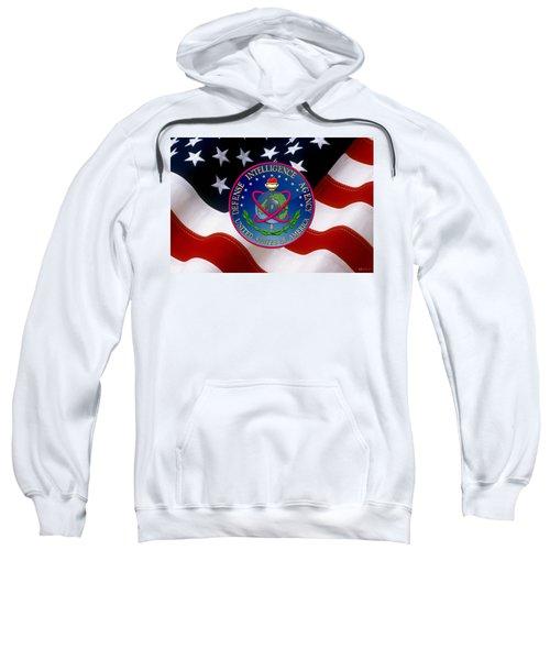 U. S. Defense Intelligence Agency - D I A Emblem Over Flag Sweatshirt