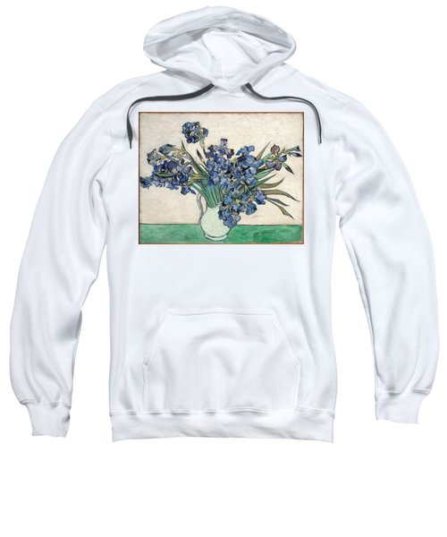 Sweatshirt featuring the painting Vase With Irises by Van Gogh