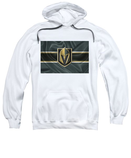 Vegas Golden Knights - 3 D Badge Over Silk Flag Sweatshirt