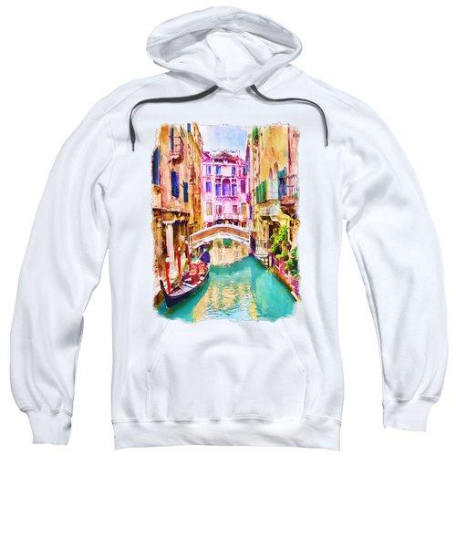 Venice Canal 2 Sweatshirt by Marian Voicu