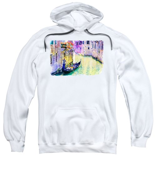 Venice Canal Sweatshirt by Marian Voicu