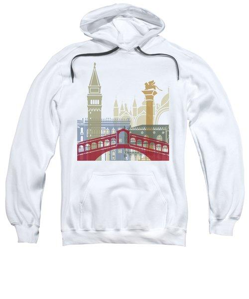 Venice Skyline Poster Sweatshirt