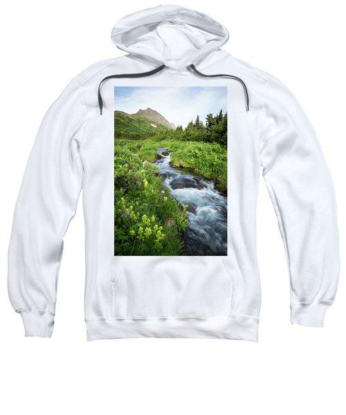 Verdant Mountain Stream Sweatshirt